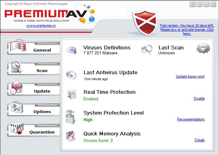 PremiumAV Antivirus 2014 Screen shot